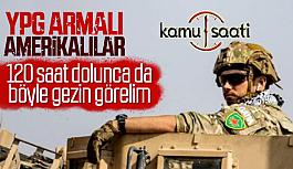 Amerikan Askerleri Suriye'de YPG Armalarını...