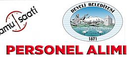 Develi Belediyesi Personel Alımı