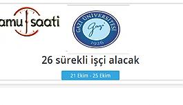 Gazi Üniversitesi Rektörlüğü 26 Sözleşmeli...