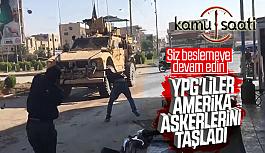 Kamışlı'da YPG'liler Amerikalı...