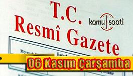 06 Kasım 2019 Çarşamba Tarihli TC Resmi Gazete Kararları