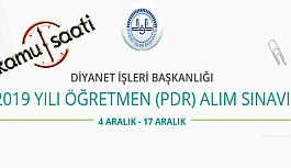 Diyanet İşleri Başkanlığı Öğretmen (PDR) Alım Sınavı