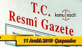 11 Aralık 2019 Çarşamba Tarihli TC Resmi...