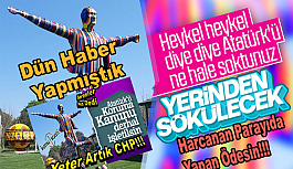 CHP'li Belediye Skandal Atatürk Heykelini...