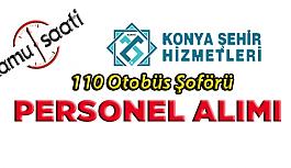 Konya Şehir Hizmetleri 110 İşçi Personel...