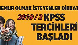 KPSS 2019/2 Tercihleri Başladı