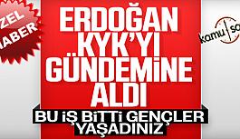 Öğrencilerden Başkan Erdoğan' KYK...