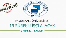 Pamukkale Üniversitesi 19 Temizlik Personeli...