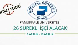 Pamukkale Üniversitesi 26 Sürekli İşçi...