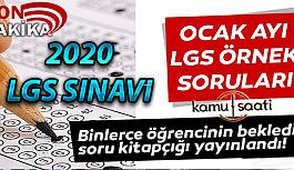 2020 LGS Örnek Sınav Soruları