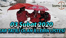 Yarın Okullar Tatil mi? Şubat 2020 Kar Tatili olan İller