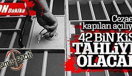Yeni İnfaz Yasayla Birlikte 42 bin Kişi Tahliye Olacak