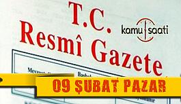09 Şubat 2020 Pazar TC Resmi Gazete Kararları