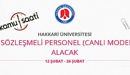 Hakkari Üniversitesi Sözleşmeli Personel Alımı Yapacak