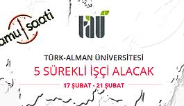 Türk-Alman Üniversitesi 5 Sürekli İşçi Personel Alımı