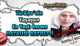 Türkiye'nin En Yaşlı İnsanı Atike Süt Hayatını Kaybetti