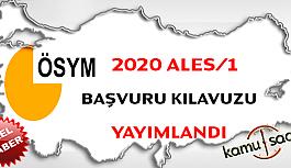2020 ALES/1 Başvuru Kılavuzu Yayınlandı İŞTE 2020  ALES 1 SINAVI DETAYLARI