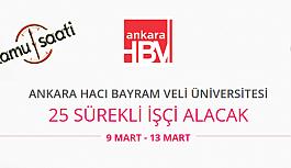 Ankara Hacı Bayram Veli Üniversitesi 25 Sürekli İşçi Personel Alımı