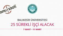 Balıkesir Üniversitesi 25 İşçi Personel Alımı