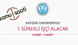 Kayseri Üniversitesi 1 Sürekli İşçi Personel Alımı