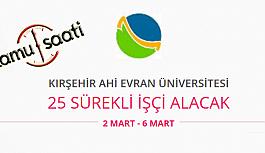Kırşehir Ahi Evran Üniversitesi 25 Sürekli İşçi Personel Alımı