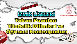 LGS İzmir Liseleri Taban Puanları Yüzdelik Dilimleri Öğrenci Kontenjanları 2018 - 2019 - 2020