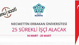 Necmettin Erbakan Üniversitesi 25 İşçi Personel Alımı