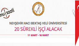 Nevşehir Hacı Bektaş Veli Üniversitesi 20 Sözleşmeli İşçi Personel Alımı