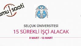 Selçuk Üniversitesi 15 Sürekli İşçi Personel Alımı