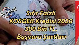 Sıfır Faizli KOSGEB Kredisi 2020 300 Bin TL. Başvuru Şartları