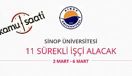 Sinop Üniversitesi 11 Sürekli İşçi Personel Alımı