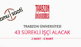 Trabzon Üniversitesi 43 Sürekli İşçi Personel Alımı