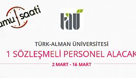 Türk Alman Üniversitesi 1 Sözleşmeli Personel Alımı