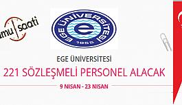 Ege Üniversitesi 221 Sözleşmeli Personel...