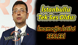İstanbullu Tek Ses Oldu: İmamoğlu İstifa...