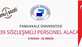 Pamukkale Üniversitesi 39 Sözleşmeli...