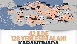 Türkiye'de karantinaya alınan yerler...