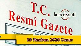 05 Haziran 2020 Cuma TC Resmi Gazete Kararları