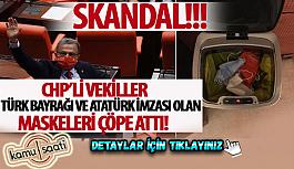 CHP'li milletvekilleri Türk bayrağı...