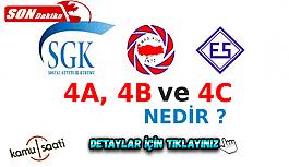 SGK sisteminde Hizmet temsilleri olan 4A, 4B, 4C Nedir? Kimlere Denir? Memur ve İşçi Hangi Sınıftadır?