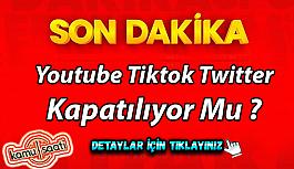 Sosyal medya için düzenleme yapılacak! Youtube Tiktok Twitter kapatılıyor mu ?
