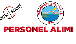 Menderes Belediyesi Personel Alımı, İş...