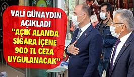 Kayseri Vali Günaydın Sigara Tiryakilerini Uyardı Açık Alanda Sigara İçmek Yasaklandı Kayseri'liler Şokta!!!