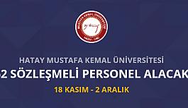 Hatay Mustafa Kemal Üniversitesi 62 Personel...
