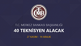 Merkez bankası 49 Teknisyen personel alımı...