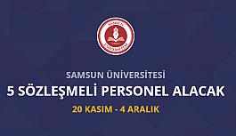 Samsun Üniversitesi 5 sözleşmeli personel...