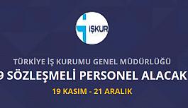 Türkiye İş Kurumu İŞKUR 9 personel...