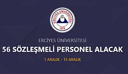 Erciyes Üniversitesi 56 sözleşmeli personel...