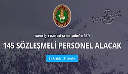 Tarım İşletmeleri Genel Müdürlüğü 145 personel alımı yapacak memur alımı ve kamu personel alım ilanları