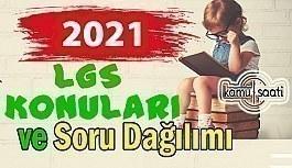2021 LGS Konuları ve Soru Dağılımı MEB (2021 LGS tarihleri sorumlu tutulacak müfredat) 2021 Lgs örnek sorular